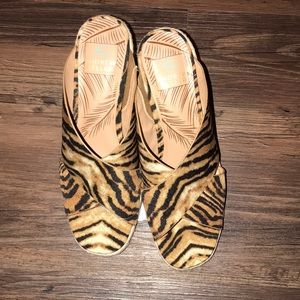 NWT Tiger striped wedges